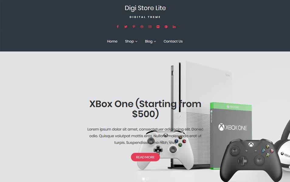 Digi-Store - 110+ Best Free ECommerce WordPress Themes [year]