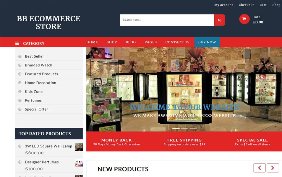 E-commerce-Shop - 110+ Best Free ECommerce WordPress Themes 2019