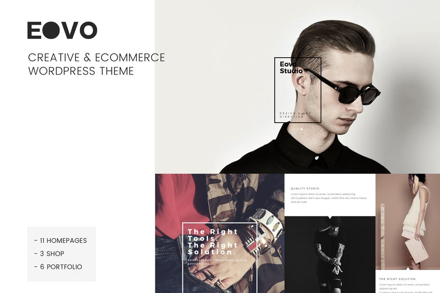 EOVO - 110+ Best Free ECommerce WordPress Themes 2019