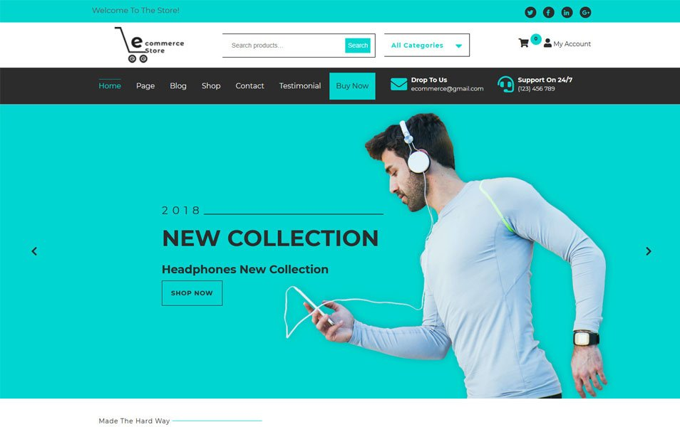 Ecommerce-Hub - 110+ Best Free ECommerce WordPress Themes 2019