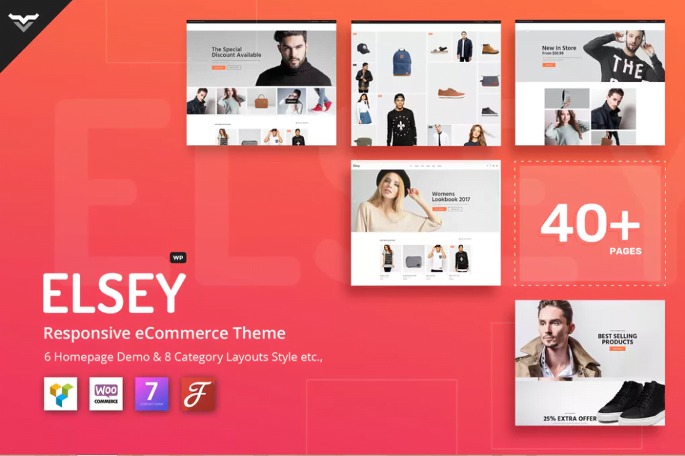 Elsey- - 110+ Best Free ECommerce WordPress Themes 2019
