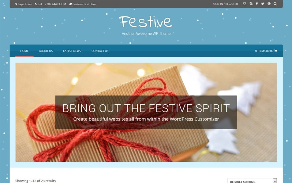 Festive - 110+ Best Free ECommerce WordPress Themes 2019