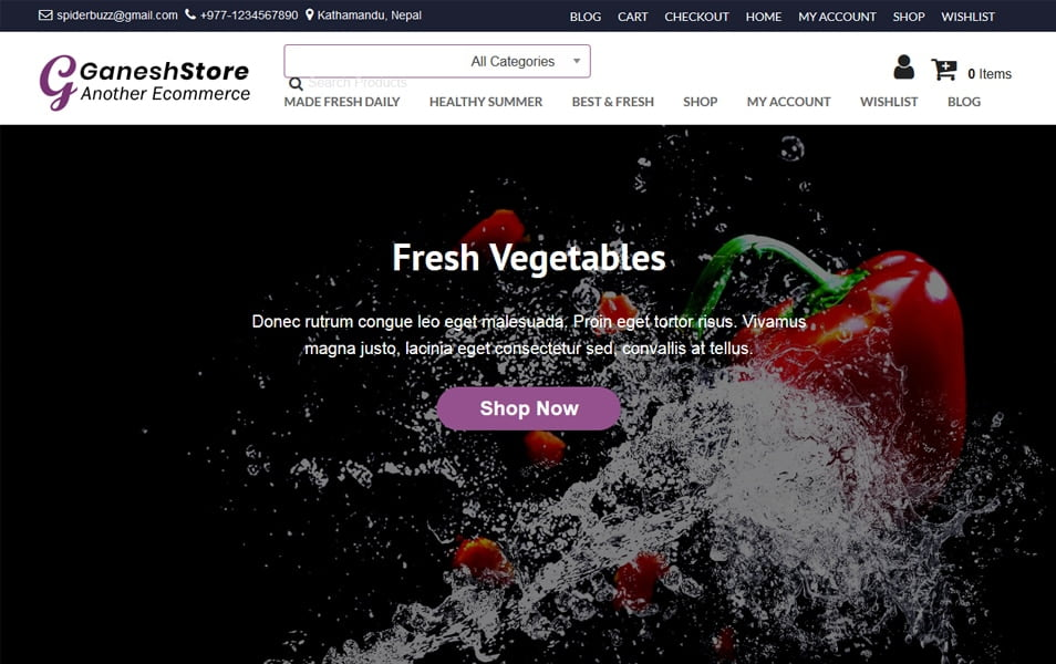 Ganess-Store - 110+ Best Free ECommerce WordPress Themes 2019