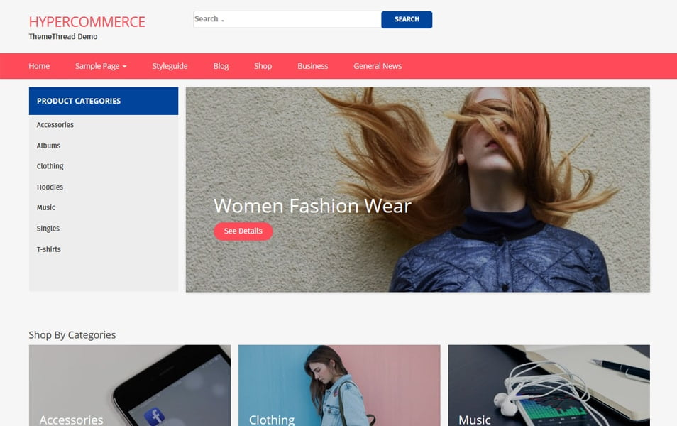 Hyper-Commerce - 110+ Best Free ECommerce WordPress Themes 2019