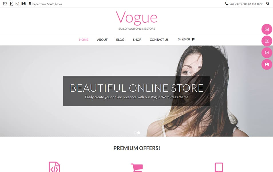 InVogue - 110+ Best Free ECommerce WordPress Themes 2019