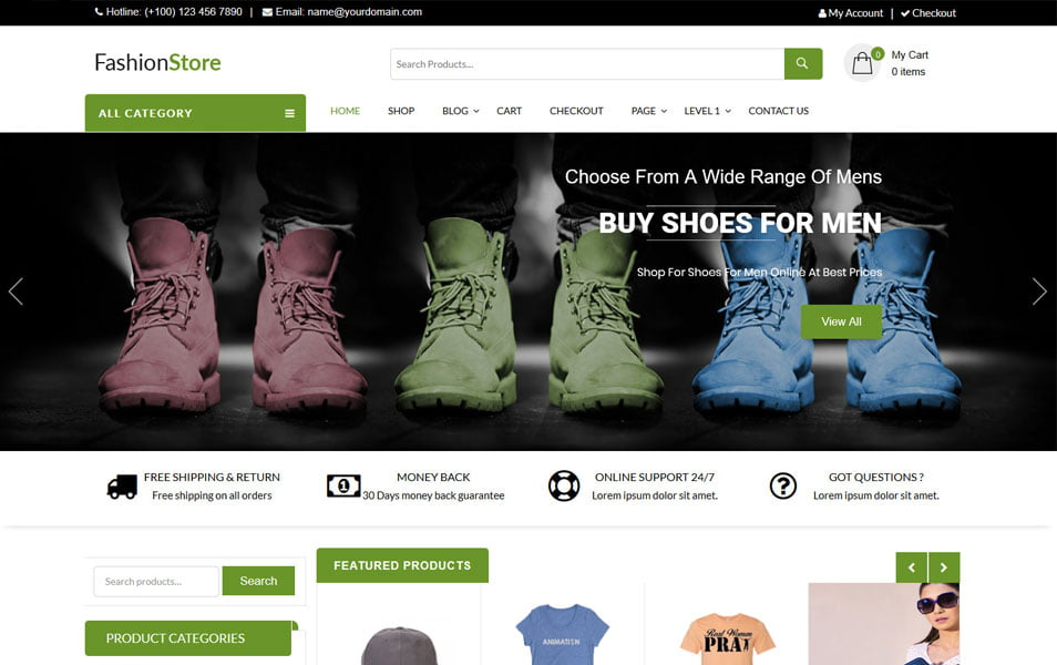 LZ-Fashion-Ecommerce - 110+ Best Free ECommerce WordPress Themes 2019