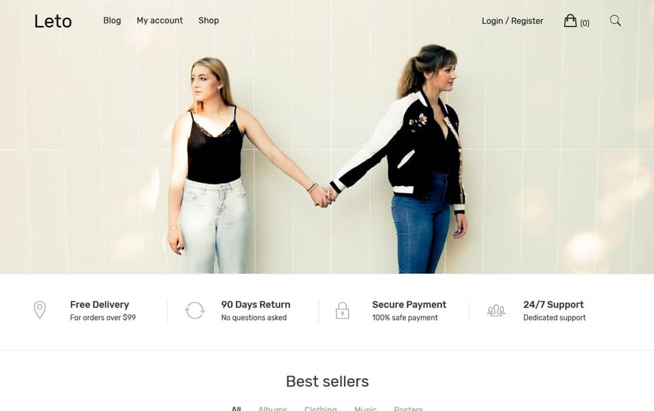 Leto - 110+ Best Free ECommerce WordPress Themes 2019