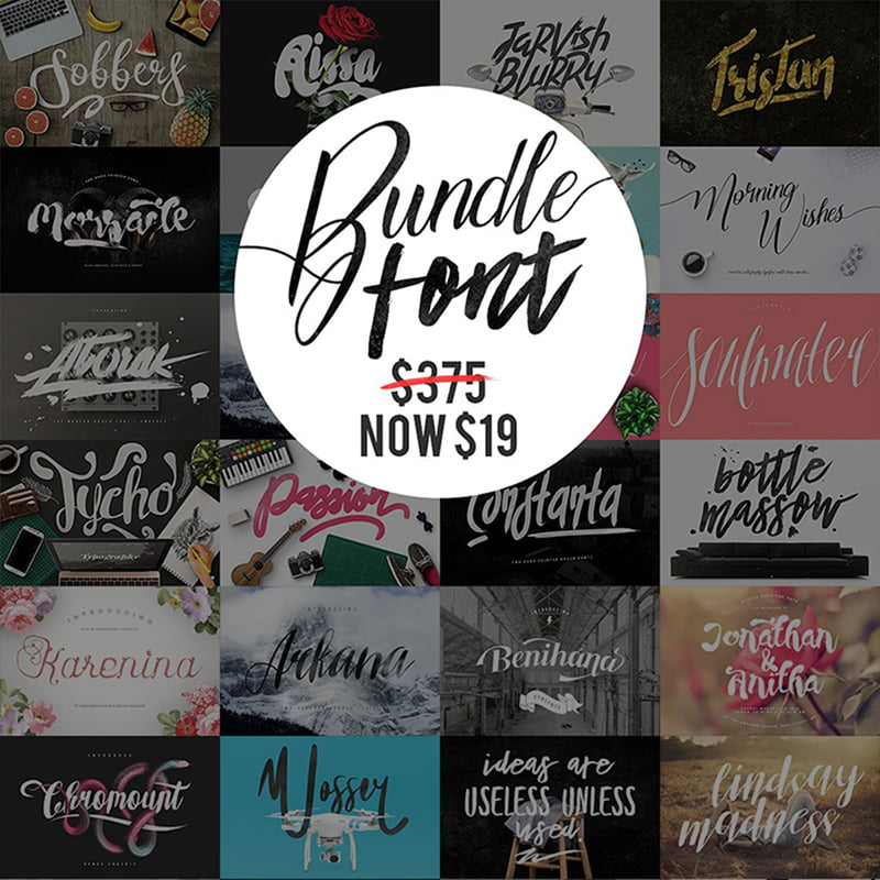 Mega-Fonts-Bundle - 10+ Must-Haves To Prepare Your Website For Valentine's Day