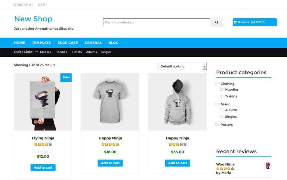 New-Shop - 110+ Best Free ECommerce WordPress Themes 2019