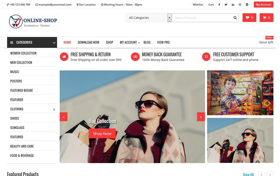Online-Shop - 110+ Best Free ECommerce WordPress Themes 2019