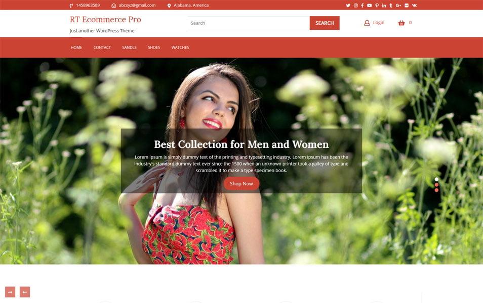 RT-Ecommerce - 110+ Best Free ECommerce WordPress Themes [year]
