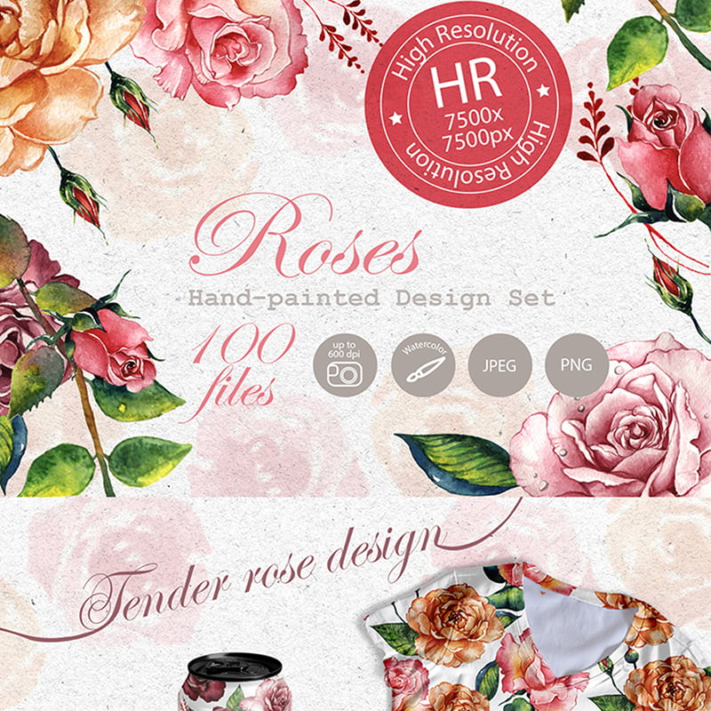 Stunning-Roses-PNG-Watercolor-Set-Illustration - 10+ Must-Haves To Prepare Your Website For Valentine's Day [year]