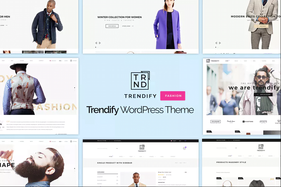 Trendify - 110+ Best Free ECommerce WordPress Themes 2019