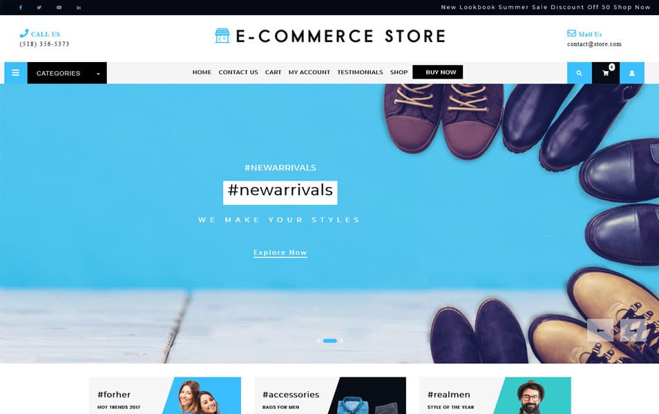Ultimate-Ecommerce-Shop-1 - 110+ Best Free ECommerce WordPress Themes 2019