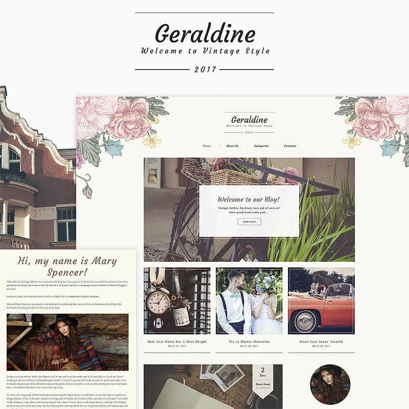 Vintage-Fashion-Blog-WordPress-Theme - 10+ Must-Haves To Prepare Your Website For Valentine's Day