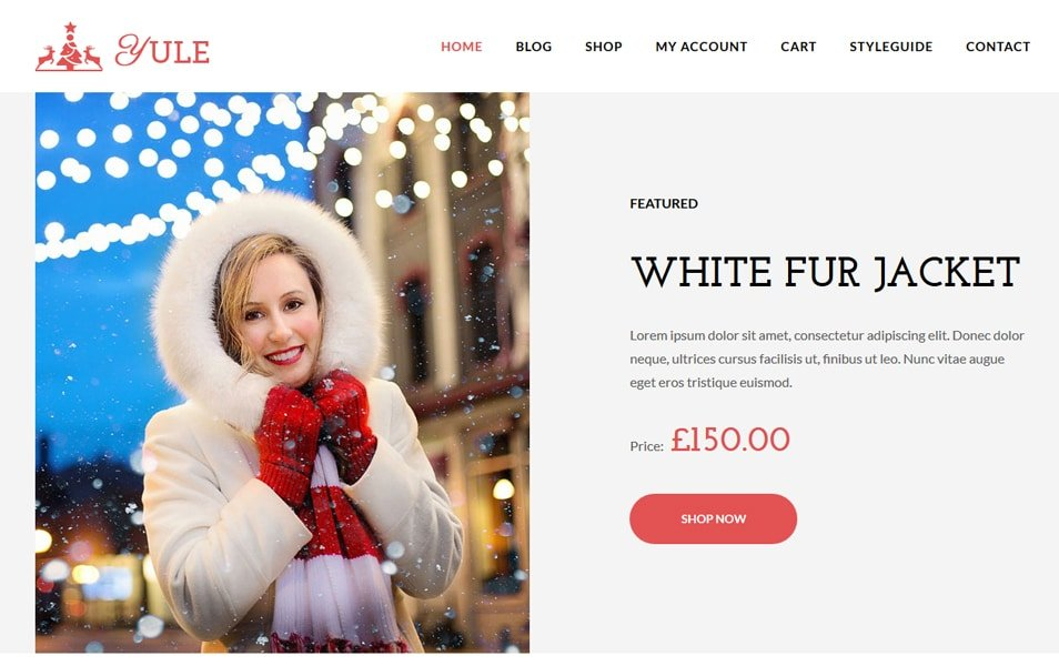 Yule - 110+ Best Free ECommerce WordPress Themes 2019