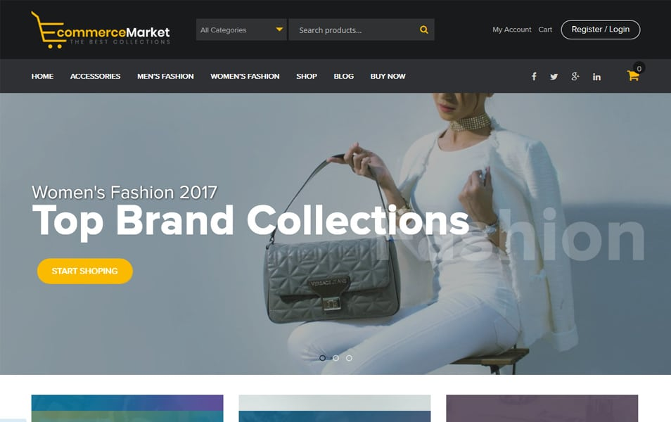 eCommerce-Market - 110+ Best Free ECommerce WordPress Themes 2019