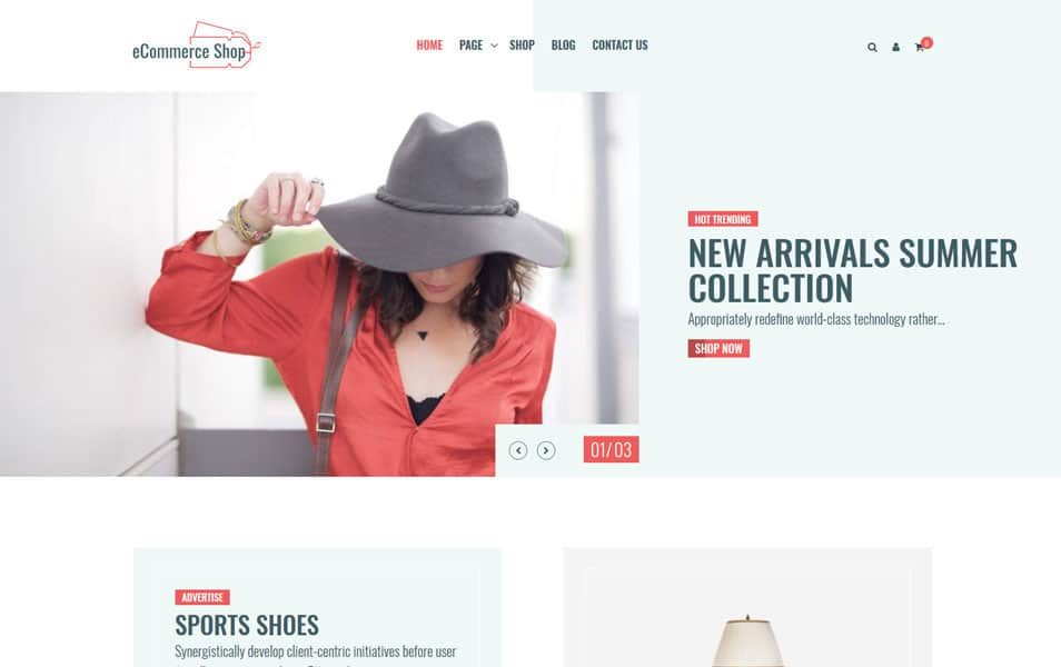 eCommerce-Shop - 110+ Best Free ECommerce WordPress Themes 2019