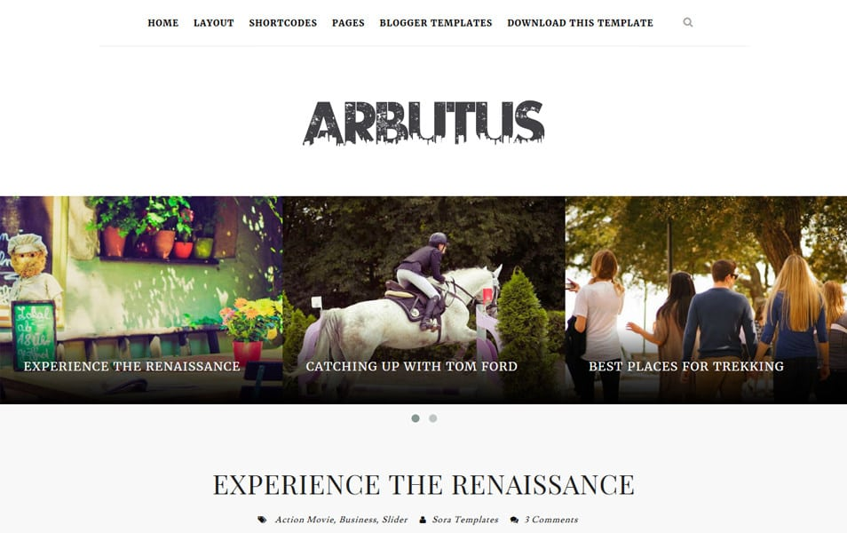 Arbutus-Responsive-Blogger-Template - 60+ Blogger Latest Free Gallery Style Templates [year]