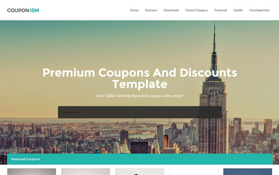Couponism-Responsive-Blogger-Template - 52+ Latest Free Gallery Style Blogger Templates 2019