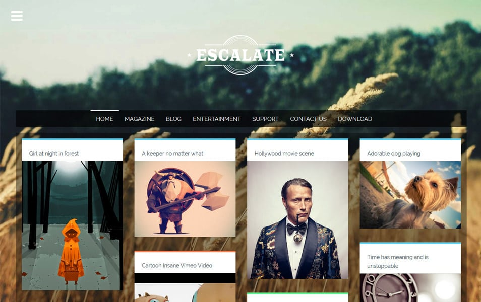 Escalate-Responsive-Blogger-Template - 52+ Latest Free Gallery Style Blogger Templates 2019