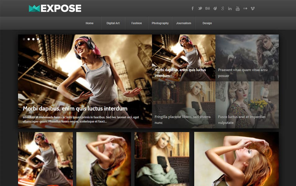 Expose-Responsive-Blogger-Template - 52+ Latest Free Gallery Style Blogger Templates 2019