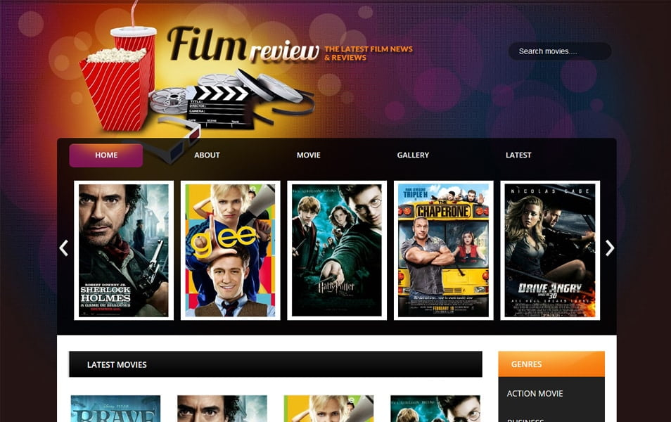 Film-Reviews-Responsive-Blogger-Template - 60+ Blogger Latest Free Gallery Style Templates [year]