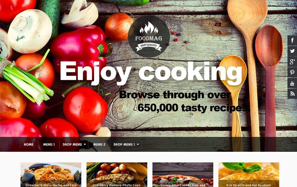 Foodmag-Responsive-Blogger-Template - 52+ Latest Free Gallery Style Blogger Templates 2019