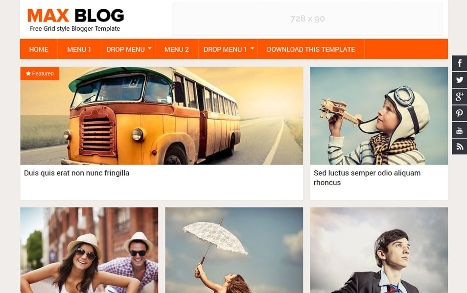 Max-Blog-Responsive-Blogger-Template - 52+ Latest Free Gallery Style Blogger Templates 2019