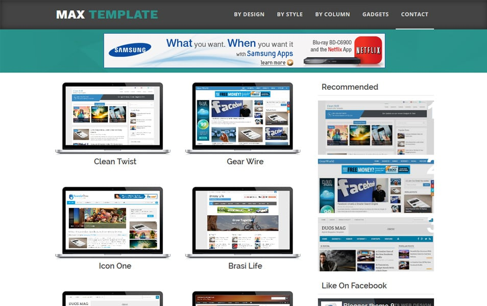 Max-Template-Responsive-Blogger-Template - 60+ Blogger Latest Free Gallery Style Templates [year]