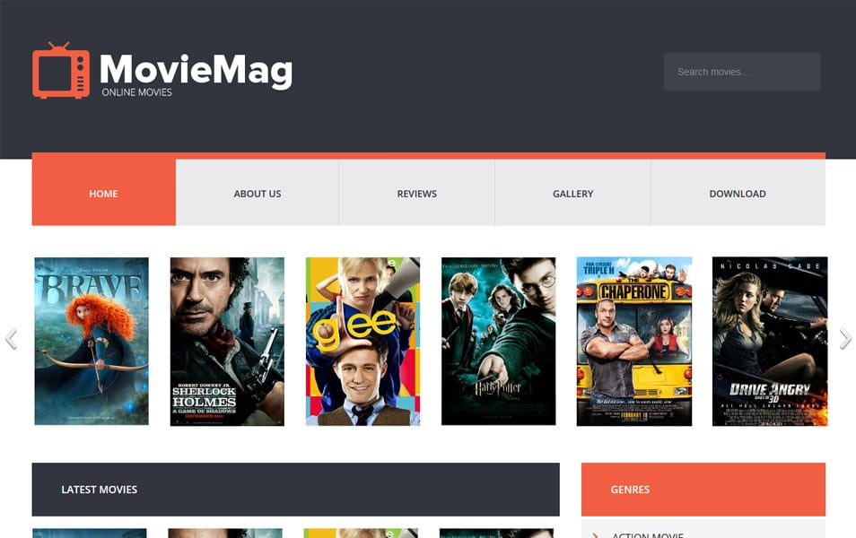 Movie-Mag-Responsive-Blogger-Template - 52+ Latest Free Gallery Style Blogger Templates 2019