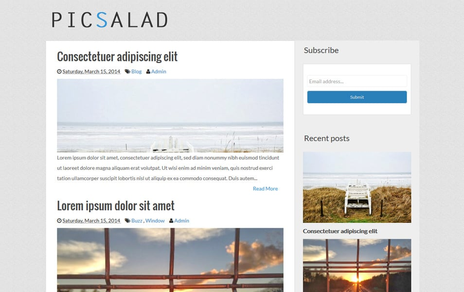 Picsalad-Responsive-Gallery-Blogger-Template - 52+ Latest Free Gallery Style Blogger Templates 2019