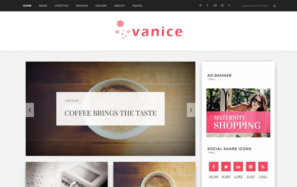 Vanice-Magazine-Responsive-Blogger-Template - 52+ Latest Free Gallery Style Blogger Templates 2019
