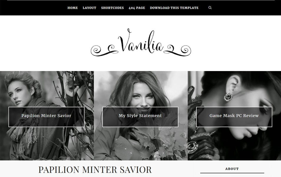 Vanilia-Responsive-Blogger-Template-1 - 52+ Latest Free Gallery Style Blogger Templates 2019
