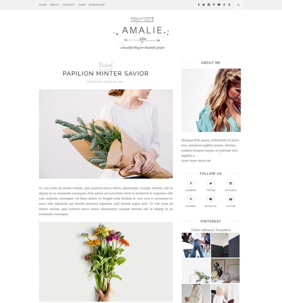 amalie-blogger-template - 110+ FREE RESPONSIVE BLOGGER TEMPLATES [year]
