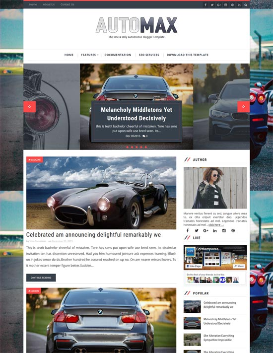 automax-free-blogger-template - 110+ FREE RESPONSIVE BLOGGER TEMPLATES [year]