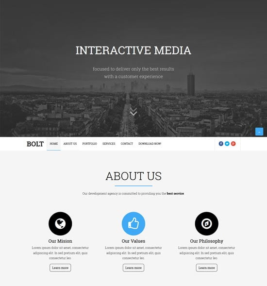 bolt-blogger-template - 110+ FREE RESPONSIVE BLOGGER TEMPLATES [year]