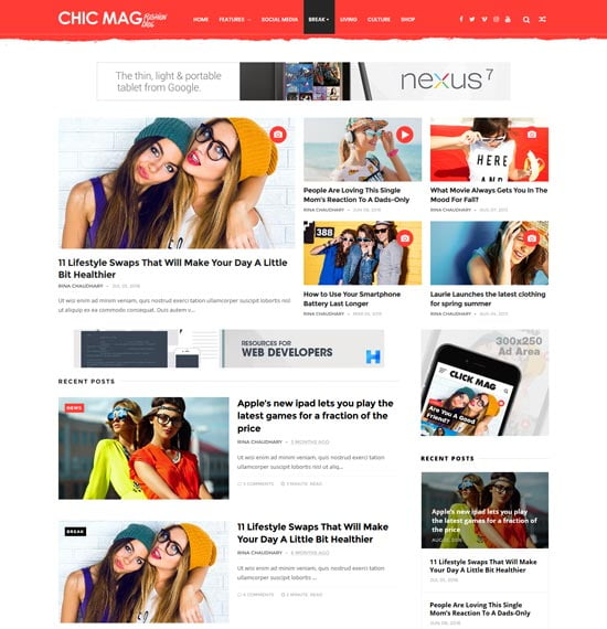 chicmag-fashion-personal-blogger-template - 110+ FREE RESPONSIVE BLOGGER TEMPLATES [year]