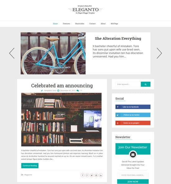 eleganto-blogger-template-1 - 110+ FREE RESPONSIVE BLOGGER TEMPLATES [year]