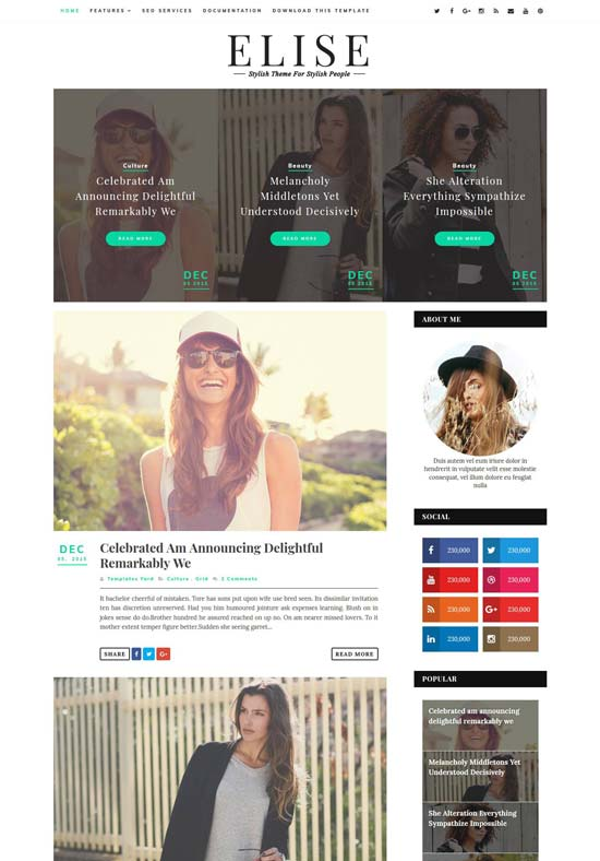 elise-clean-blogger-template - 110+ FREE RESPONSIVE BLOGGER TEMPLATES [year]