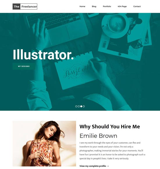 freelancer-blogger-template - 110+ FREE RESPONSIVE BLOGGER TEMPLATES [year]