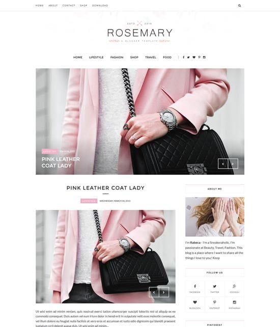 rosemary-responsive-blogger-template - 110+ FREE RESPONSIVE BLOGGER TEMPLATES [year]