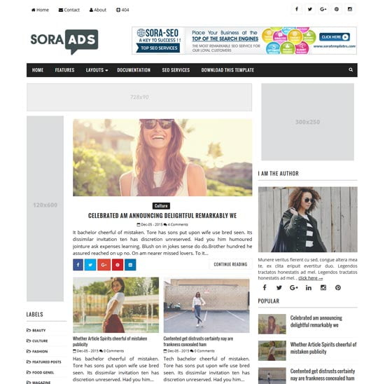 sora-ads-blogger-template - 110+ FREE RESPONSIVE BLOGGER TEMPLATES [year]