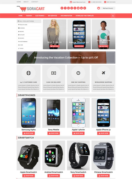 sora-cart-free-blogger-template - 110+ FREE RESPONSIVE BLOGGER TEMPLATES [year]
