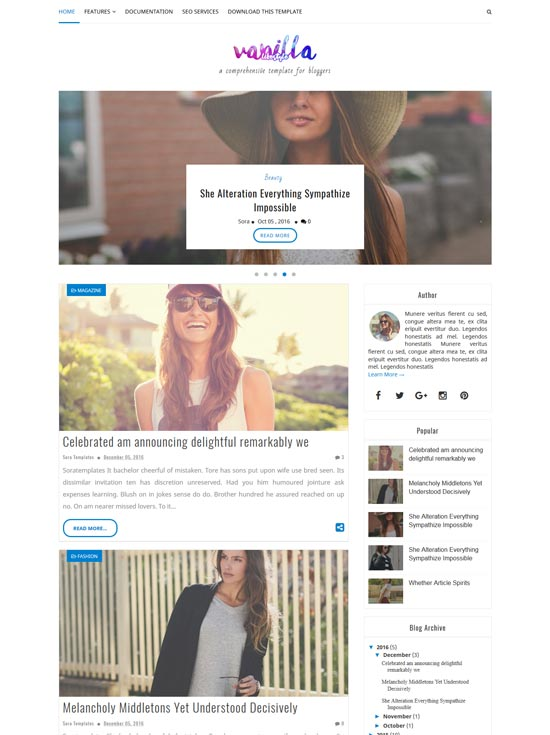 vanilla-lifestyle-free-blogger-template - 110+ FREE RESPONSIVE BLOGGER TEMPLATES [year]