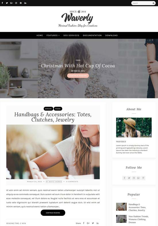 waverly-personal-blogger-template - 110+ FREE RESPONSIVE BLOGGER TEMPLATES [year]