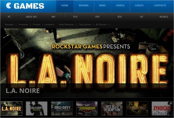 Admin-Panel-Games-Website-Template - 50 Best Gaming HTML Website Templates 2019