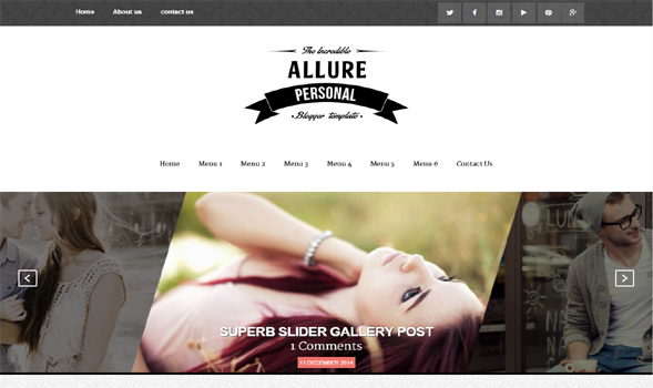Allure-Blogger-Template1 - 50+ Top Free Portfolio Blogger Templates 2019