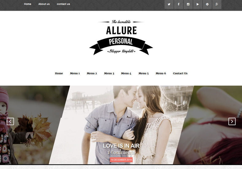 Allure-Responsive-Blogger-Template - 54+ Top BEST Free One Page Blogger Templates [year]