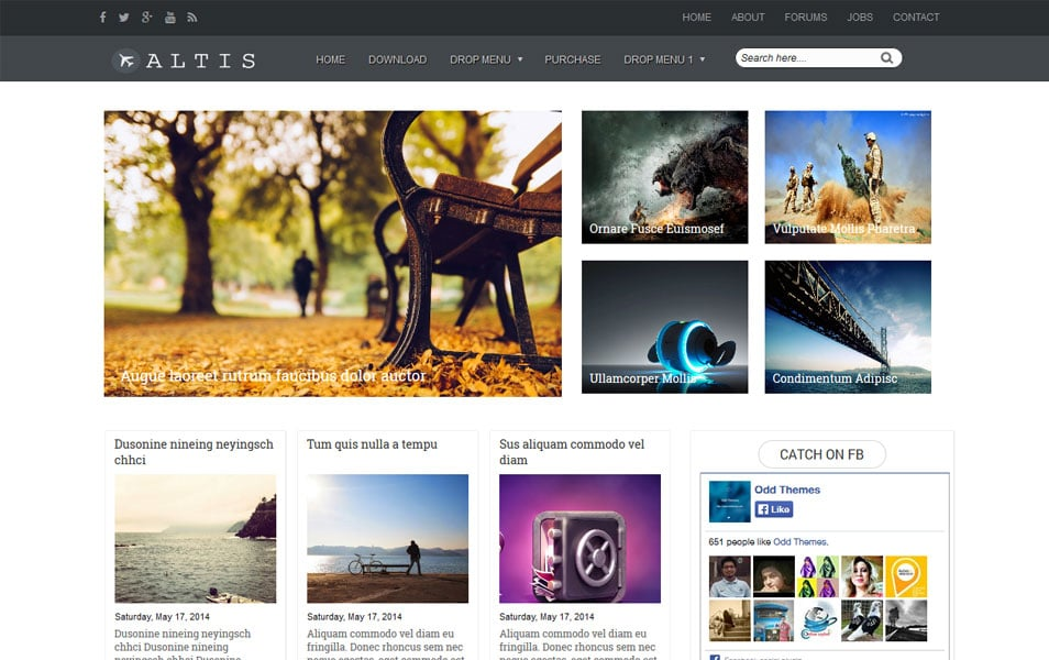 Altis-Magazine-Blogger-Template - 50+ Top Free Grid Style Blogger Templates 2019